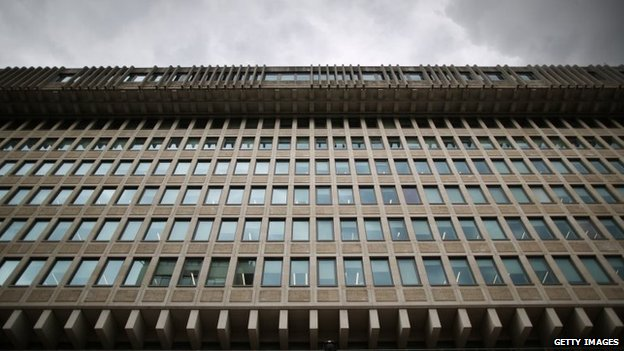 A general view of the Ministry of Justice building, formerly the Home Office