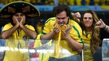 Brazil fans show their anger