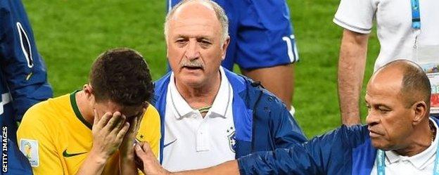 Oscar and Luiz Felipe Scolari