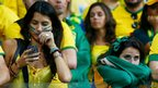 Disappointed Brazil fans