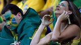 Brazil fans during the 7-1 World Cup semi-final defeat by Germany