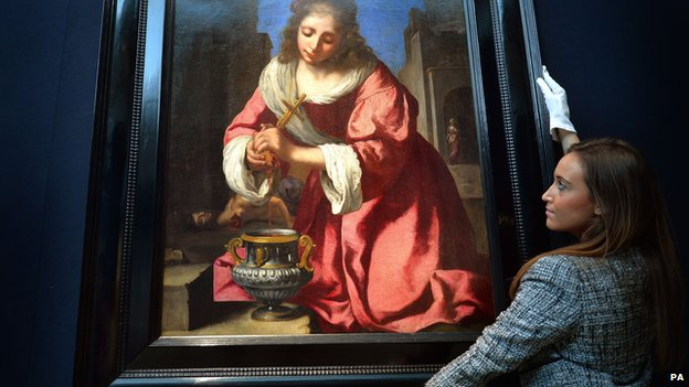 Saint Praxedis by Johannes Vermeer