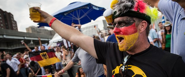 Germany fans celebrate in New York