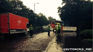 Sutton cfld flooding bham July 2014