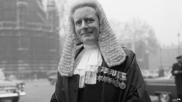 Former Lord Chancellor Lord Havers in 1965