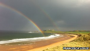 Double-rainbow in Northumberland