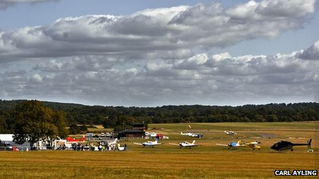 Redhill Aerodrome viewed from Kings Mill Lane - 2009