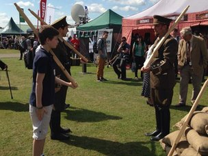 WWI exhibition at Great Yorkshire Show