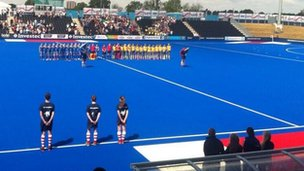 Hockey match at Olympic Park