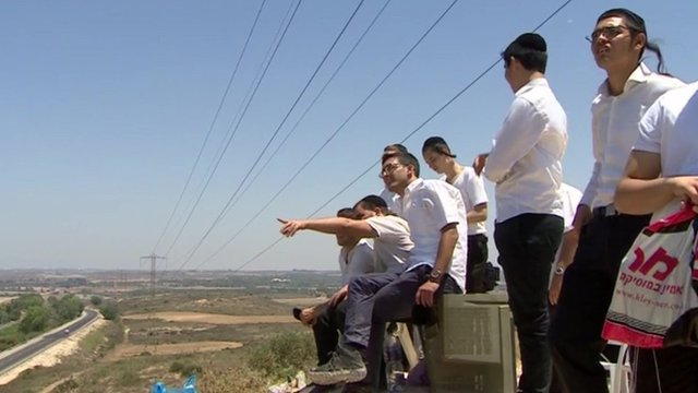 Israelis near Sderot
