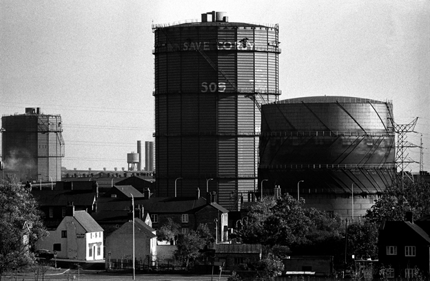 The iron and steel works in Corby shortly before its closure in 1980