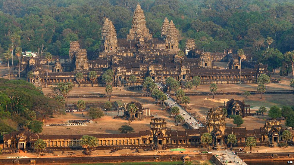 View of Angkor Wat in Cambodia
