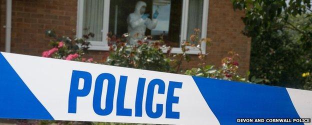 Crime scene (Pic: Devon and Cornwall Police)