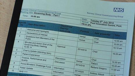 NHS Kernow report