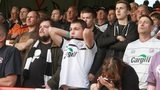 Hereford United fans at Aldershot  on the final day of the 2013-14 season
