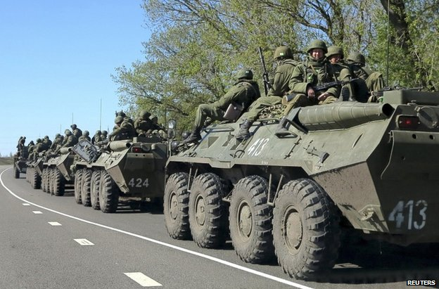 Russian troops on exercises near the border with Ukraine, 25 April
