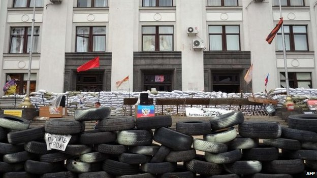 Barricade in Luhansk, 9 July