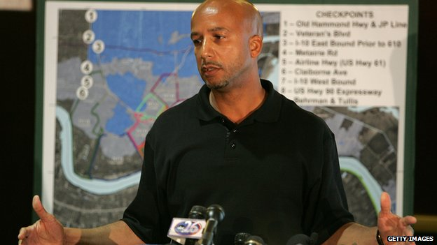 New Orleans Mayor Ray Nagin speaks during a news conference  in New Orleans, Louisiana 19 Septemebr 2006