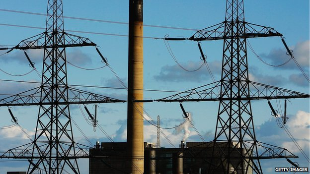 Peterhead power station and electricity pylons