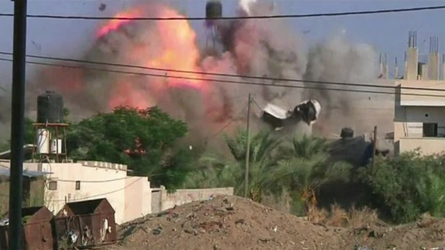 Explosion at house in the south of Gaza