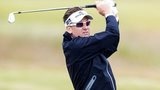 Ian Poulter practicing at the Scottish Open