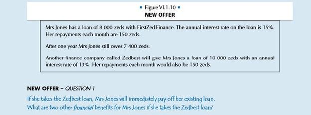 A sample question from the OECD financial literacy test