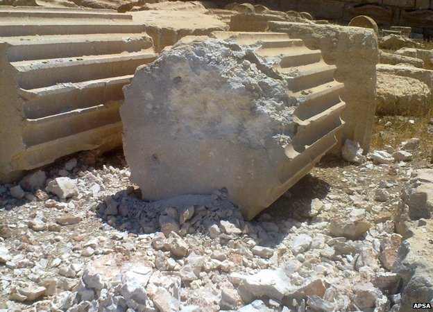Fallen column in Palmyra