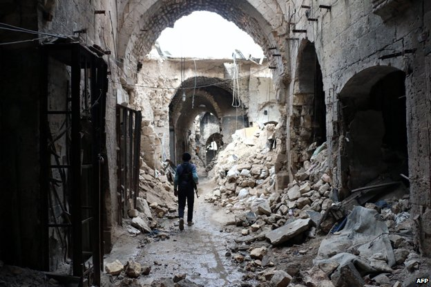 Aleppo souk after the fire
