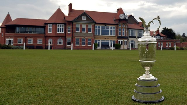 The Claret Jug at Royal Liverpool Golf Course in Hoylake