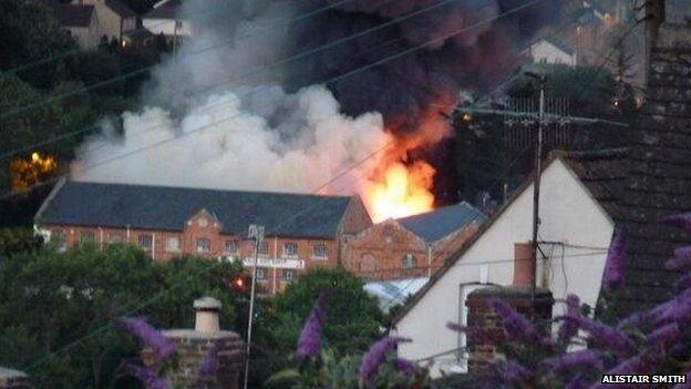 The fire in Stroud