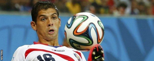 Costa Rica defender Cristian Gamboa