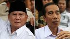 Combination image shows Indonesian presidential candidates Prabowo Subianto (L) and Joko Jokowi  Widodo