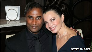 Shiva Ayyadurai and actress Fran Drescher