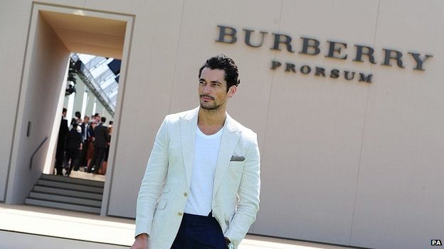 David Gandy at the Burberry Prorsum fashion show