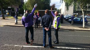 Picket line in Newcastle