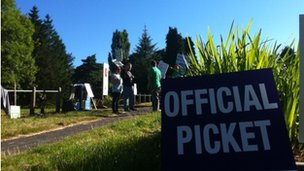 Littleover Community School picket line