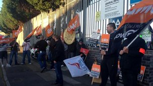 GMB picket at central waste management on Montague Street in Birmingham