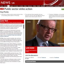 BBC News Public sector strike action