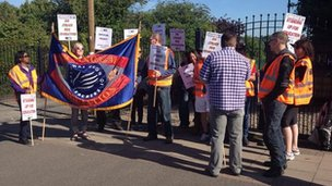 Picket line at Hamstead Hall Academy