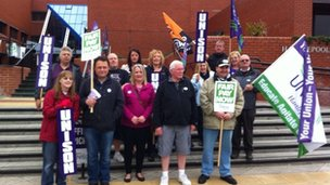Hartlepool picket line