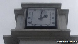 Memorial clock in Horden park
