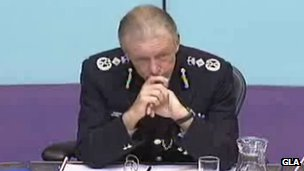 Sir Bernard Hogan-Howe at the City Hall meeting