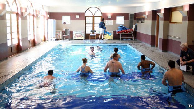 Hydrotherapy session at Headley Court