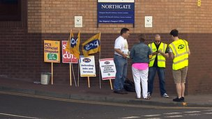 Northgate picket line