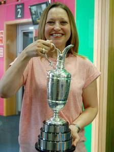 Giulia with the Claret Jug