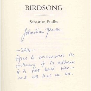Birdsong signed copy 100th anniversary