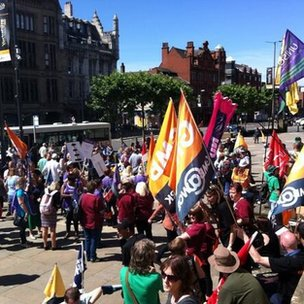 strike rally in leeds