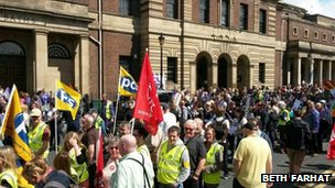 March in Newcastle
