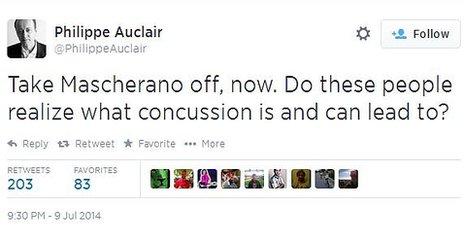 Concussion tweet