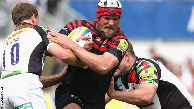 Saracens lock Alistair Hargreaves